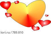 Купить «Открытка с сердечками», иллюстрация № 789810 (c) Дубинин Дмитрий / Фотобанк Лори