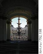 Купить «Ворота Эрмитажа в Санкт-Петербурге», фото № 792198, снято 24 января 2019 г. (c) Павел С. / Фотобанк Лори