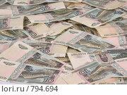 Купить «Российские десятирублевые банкноты», фото № 794694, снято 23 декабря 2007 г. (c) Петухов Геннадий / Фотобанк Лори