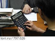 Купить «Налоговая проверка чиновника», фото № 797026, снято 19 марта 2008 г. (c) Александр Подшивалов / Фотобанк Лори