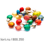 Бусы из цветного муранского стекла. Стоковое фото, фотограф Ирина Рубанова / Фотобанк Лори