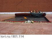 Купить «Могила неизвестного солдата», фото № 801114, снято 11 апреля 2009 г. (c) Алексей Байдин / Фотобанк Лори