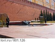 Купить «Почетный караул у могилы неизвестного солдата», фото № 801126, снято 11 апреля 2009 г. (c) Алексей Байдин / Фотобанк Лори