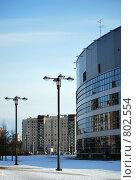 Фонари у Ледового дворца. Санкт-Петербург (2009 год). Стоковое фото, фотограф Елена Реднева / Фотобанк Лори
