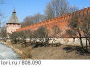 Купить «Вид на башню и крепостную стену, г. Смоленск», фото № 808090, снято 9 апреля 2009 г. (c) Denis Kh. / Фотобанк Лори