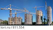 Купить «Панорама строительства», фото № 811554, снято 20 февраля 2018 г. (c) Losevsky Pavel / Фотобанк Лори