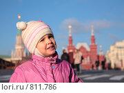 Купить «Девочка на Красной площади в Москве», фото № 811786, снято 17 февраля 2020 г. (c) Losevsky Pavel / Фотобанк Лори