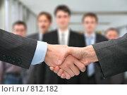 Купить «Деловое рукопожатие», фото № 812182, снято 23 декабря 2018 г. (c) Losevsky Pavel / Фотобанк Лори