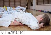 Купить «Мальчик на тренировке по карате», фото № 812194, снято 22 декабря 2008 г. (c) Losevsky Pavel / Фотобанк Лори
