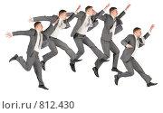 Купить «Счастливый прыгающий бизнесмен», фото № 812430, снято 8 октября 2008 г. (c) Losevsky Pavel / Фотобанк Лори