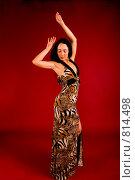 Купить «Элегантная женщина в вечернем платье танцует», фото № 814498, снято 25 февраля 2009 г. (c) Олег Тыщенко / Фотобанк Лори
