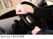 Руки на руле. Стоковое фото, фотограф Татьяна Ежова / Фотобанк Лори