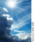 Купить «Облака и лучи», фото № 830346, снято 16 сентября 2019 г. (c) ElenArt / Фотобанк Лори