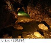 Подземная река. Стоковое фото, фотограф Ангелина Матросова / Фотобанк Лори