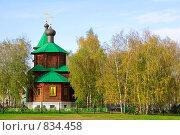 Купить «Небольшая церковь в районе Жулебино в Москве», фото № 834458, снято 16 октября 2008 г. (c) Елена Галачьянц / Фотобанк Лори