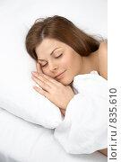 Купить «Спящая девушка», фото № 835610, снято 1 апреля 2009 г. (c) Raev Denis / Фотобанк Лори
