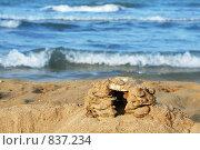 Песочный замок. Стоковое фото, фотограф Вячеслав Зитев / Фотобанк Лори