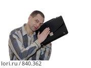 Человек с портфелем. Стоковое фото, фотограф Андрей Марцинкевич / Фотобанк Лори