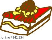 Кусочек торта. Стоковая иллюстрация, иллюстратор tyuru / Фотобанк Лори