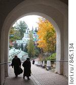 Купить «Псково-Печорский монастырь», фото № 845134, снято 6 октября 2008 г. (c) Ямаш Андрей / Фотобанк Лори