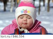 Девочка в розовой шапке. Стоковое фото, фотограф Пушкина Ольга / Фотобанк Лори