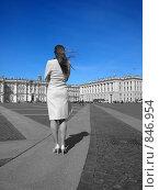 Купить «Девушка отвернулась от камеры. Голубое небо.», фото № 846954, снято 25 апреля 2009 г. (c) Троицкая Алиса / Фотобанк Лори