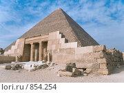 Купить «Храм у пирамиды Хеопса», фото № 854254, снято 24 ноября 2006 г. (c) Максим Иванов / Фотобанк Лори