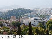 Купить «Вид на Афины с Акрополя, Греция», фото № 854854, снято 28 августа 2008 г. (c) Максим Иванов / Фотобанк Лори