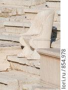 Купить «Каменное кресло в амфитеатре, Афины, Греция», фото № 854978, снято 28 августа 2008 г. (c) Максим Иванов / Фотобанк Лори