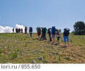Туристы идут в гору. Стоковое фото, фотограф Гортованова Мария / Фотобанк Лори