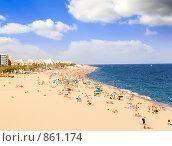Купить «Городской пляж, Калейла ( Calella )», фото № 861174, снято 27 августа 2008 г. (c) Vitas / Фотобанк Лори