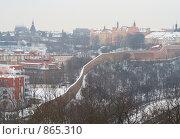 Купить «Прага. Крепостная стена, Вышеград. Зима.», фото № 865310, снято 8 января 2009 г. (c) Лошкарев Антон / Фотобанк Лори