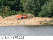 Купить «Красный самосвал», эксклюзивное фото № 870262, снято 22 августа 2008 г. (c) Журавлев Андрей / Фотобанк Лори