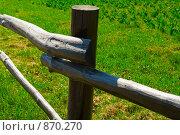 Купить «Фрагмент деревянного забора дачного огорода», фото № 870270, снято 1 мая 2009 г. (c) Кекяляйнен Андрей / Фотобанк Лори