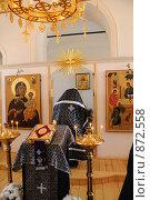 Купить «Священник в церкви», фото № 872558, снято 8 апреля 2009 г. (c) Иванов Аркадий Николаевич / Фотобанк Лори
