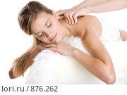 Девушке делают массаж. Стоковое фото, фотограф Кувшинников Павел / Фотобанк Лори