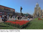 Триумфальная площадь в Москве 9 мая, эксклюзивное фото № 877574, снято 9 мая 2009 г. (c) Виктор Тараканов / Фотобанк Лори