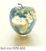 Купить «Яблоко в виде земного шара», иллюстрация № 878602 (c) Alperium / Фотобанк Лори