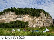 Купить «Палаточный лагерь туристов водников около камня Говорливый. Пермский край», фото № 879526, снято 12 августа 2008 г. (c) Максим Антипин / Фотобанк Лори