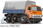 Купить «Мультяшный грузовик», иллюстрация № 880902 (c) Александр Володин / Фотобанк Лори