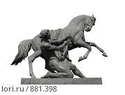 Купить «Укрощение коня, скульптура на Аничковом мосту», фото № 881398, снято 5 мая 2009 г. (c) Морковкин Терентий / Фотобанк Лори