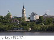 Пермь. Вид с моста (2009 год). Редакционное фото, фотограф евгений блинов / Фотобанк Лори