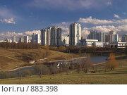 Купить «Москва. Олимпийская деревня-80. Пруды», фото № 883398, снято 18 апреля 2009 г. (c) Роман Коротаев / Фотобанк Лори