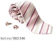 Купить «Галстук и запонки», фото № 883546, снято 19 мая 2009 г. (c) Руслан Кудрин / Фотобанк Лори