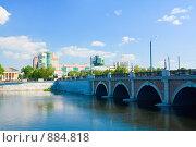 Купить «Мост через р.Миасс. Челябинск», фото № 884818, снято 23 мая 2009 г. (c) Андрей Соловьев / Фотобанк Лори