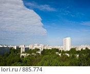 Купить «Городской пейзаж. Тушино, Москва», фото № 885774, снято 19 мая 2009 г. (c) Николай Коржов / Фотобанк Лори