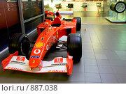 """Купить «Гоночный автомобиль """"Формула-1"""" Ferrari, музей Феррари, Моронелло, Италия», фото № 887038, снято 9 июля 2008 г. (c) Александр Косарев / Фотобанк Лори"""
