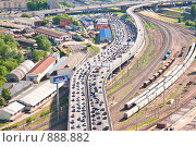 Купить «Москва с высоты птичьего полёта», фото № 888882, снято 26 мая 2009 г. (c) Андрей Лавренов / Фотобанк Лори