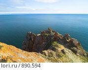 Купить «Озеро Байкал. Восточный берег острова Ольхон», фото № 890594, снято 10 сентября 2008 г. (c) Andrey M / Фотобанк Лори