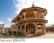 Купить «Байкал, остров Ольхон. Туристический домик», фото № 890670, снято 11 сентября 2008 г. (c) Andrey M / Фотобанк Лори